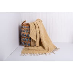Amoda - Raw Cotton Woven Throw with Fringe