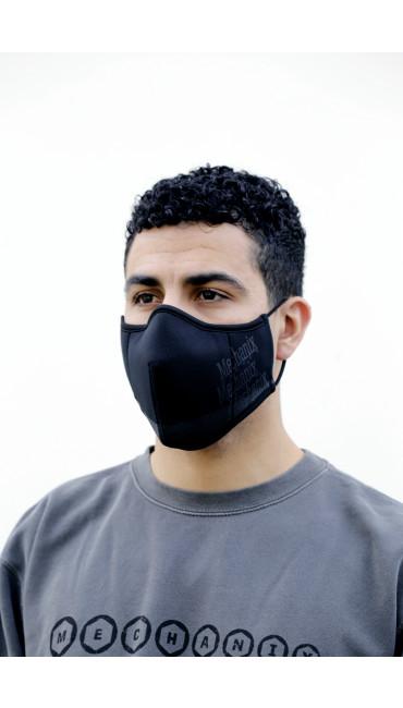 Black Reusable Face Mask, Black, large