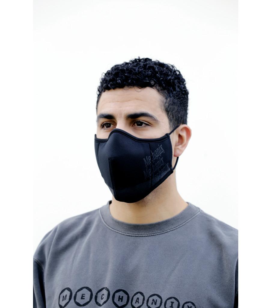 Black Reusable Face Mask, Black, large image number 1