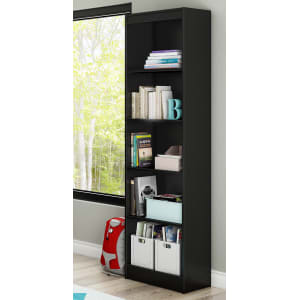 Axess - 5-Shelf Narrow Bookcase