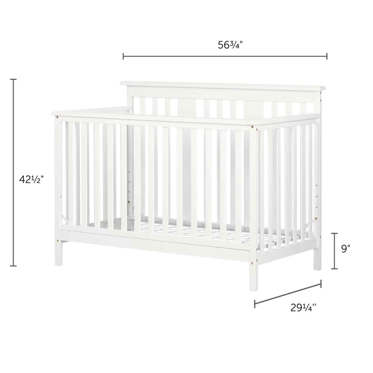 Little Smileys Modern Baby Crib Adjustable Height Mattress With Toddler Rail Crib Nursery Baby And Kids Products South Shore Furniture Us Furniture For Sale Designed And Manufactured In North America