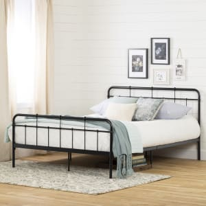 Gravity - Metal Platform Bed with headboard