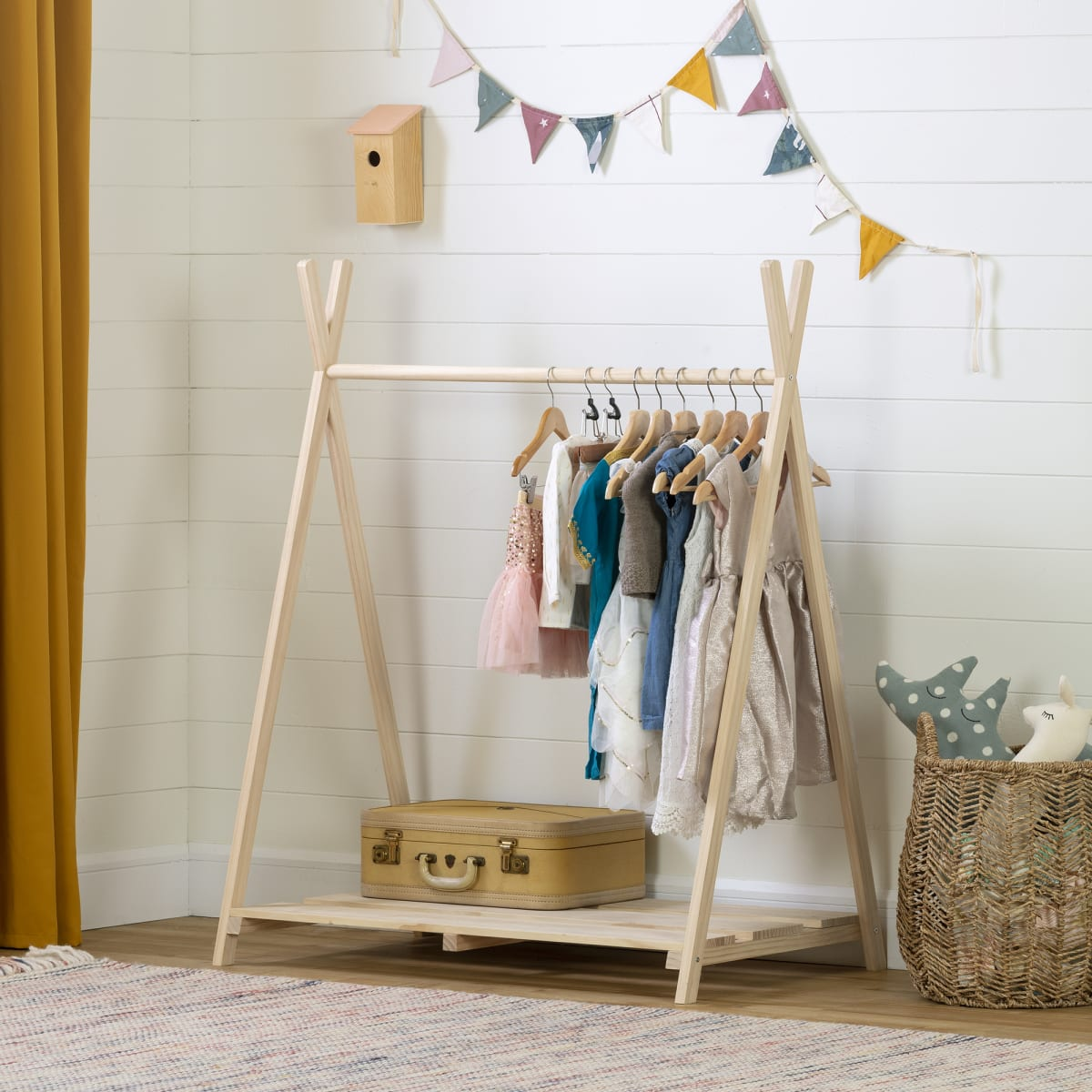 Sweedi Scandinavian Clothes Rack For Kids Play Furniture Playroom Baby And Kids Products South Shore Furniture Us Furniture For Sale Designed And Manufactured In North America