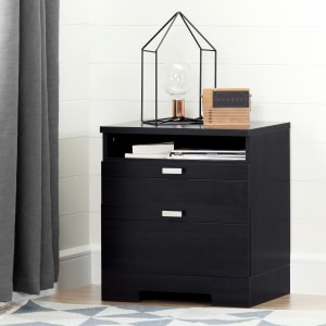 Reevo - Nightstand with Cord Catcher