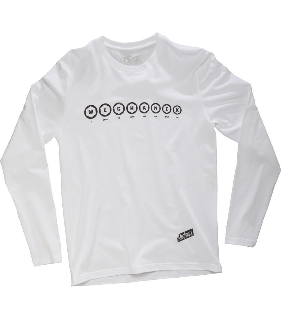 Socket Long Sleeve Shirt, White, large image number 0