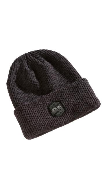 Classic Ribbed Cuff Knit Beanie-  Dark Grey