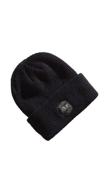 Classic Ribbed Cuff Knit Beanie - Black