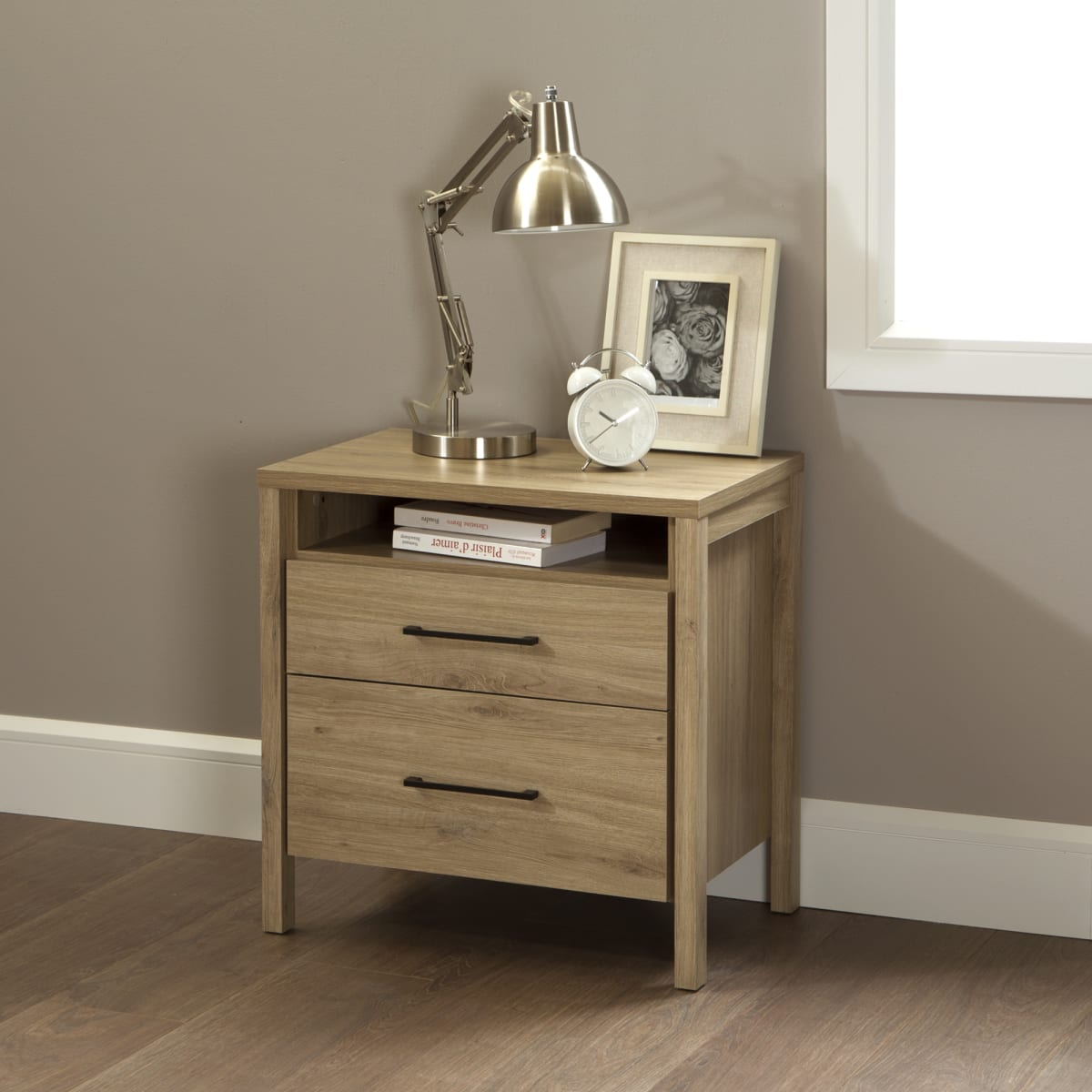 Gravity 2 Drawer Nightstand Nightstand Master Bedroom Furniture Products South Shore Furniture Us Furniture For Sale Designed And Manufactured In North America
