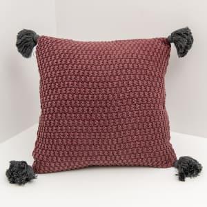 Floro - Decorative Pillow with Pompoms