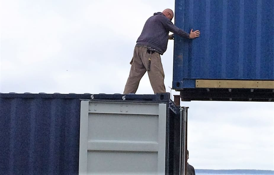 Container home assembly