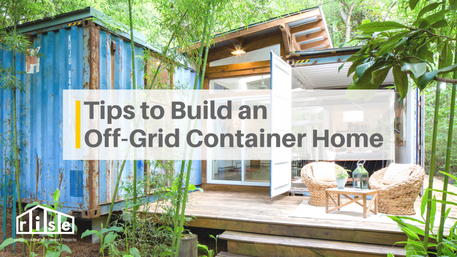 tips to build off grid container home