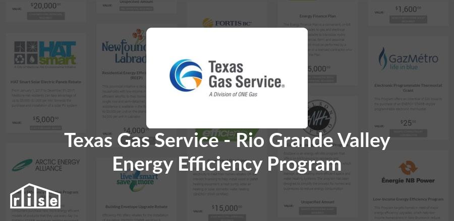 rise | rebate - texas gas service - texas gas service - rio grande
