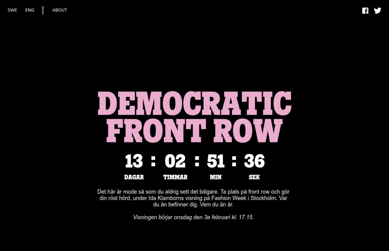 http://www.democraticfrontrow.com/