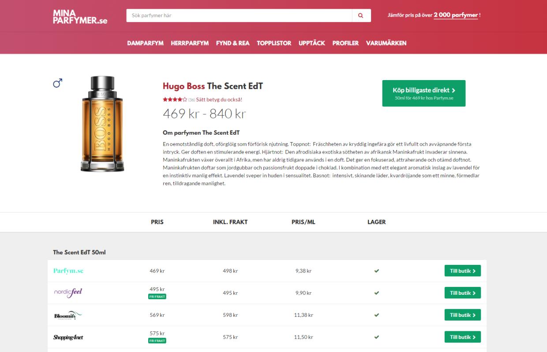Upptäck & jämför pris på parfymer på minaparfymer.se, vi jämför pris på parfymer från de största svenska online shopparna.