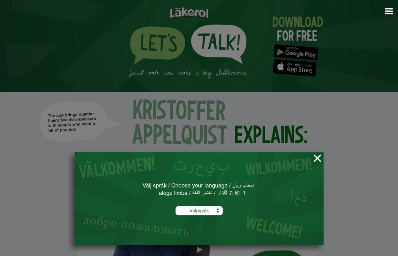 http://lakerol.se/letstalk/en/