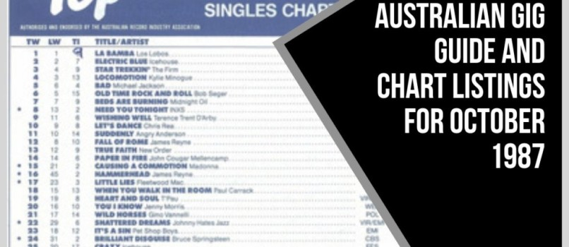 Australian Gig Guide and Chart Listings for October 1987
