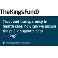 Trust and transparency in health care: how can we ensure the public supports data sharing?