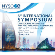 6th International Symposium On Regional Anesthesia, Pain And Perioperative Medicine