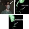CTA images displayed in Google Glass. (A) Cardiologist viewing the CTA images in the upper right visual field on Google Glass (Google Inc, Mountain View, CA) (arrow) during a CTO recanalization attempt. (B, C) Three-dimensional reconstructions projected d
