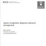 Cover of NICE sepsis guidelines