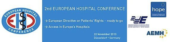 MEDICA 2013: 2nd Joint European Hospital Conference Brings Together Europe's Clinical Experts