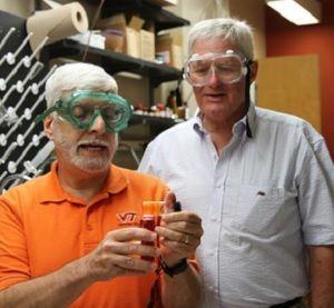 Researchers Joseph Merola (left) and Joseph Falkinham