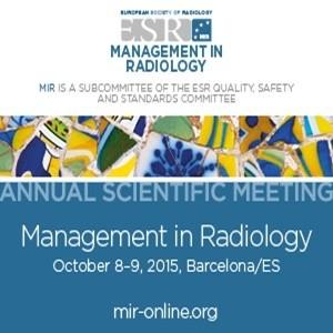 ESR 2015: Management of Radiology