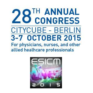 ESICM LIVES 2015: Intensivists Care for Lives!