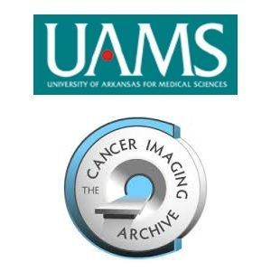 The Cancer Imaging Archive and UAMS logos