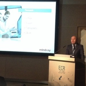 Willy Luiten, Director of Marketing Ultrasound Europe, introducing the speakers at the Mindray Symposium in Vienna