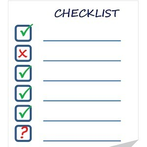 Diagram of checklist