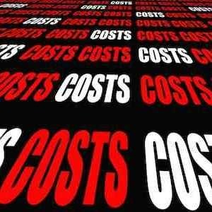 "The word ""Cost"" repeated"