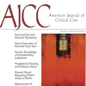 American Journal of Critical Care May 2016 issue cover