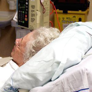 Elderly patient in hospital bed, credit freeimages.com