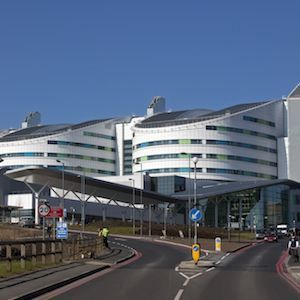 Queen Elizabeth Hospital, Birmingham, UK, credit Wikimedia Commons
