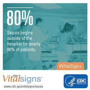 Sepsis graphic, credit Centers for Disease Control and Prevention