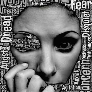 woman's face with words, credit Pixabay