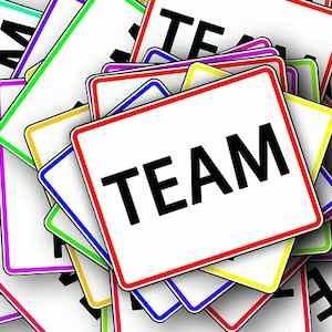 Team sign, credit Pixabay