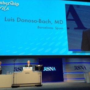 RSNA16: Prof. Lluis Donoso Bach Awarded Honorary Membership