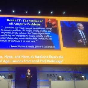 """RSNA16: Radiology the """"Canary in the Mine"""" for Medicine in the Digital Age"""