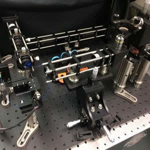 This is an image of the optical coherence microscopy (OCM) system.