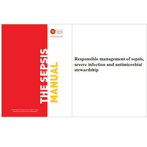 Front cover of Sepsis Manual published by UK Sepsis Trust