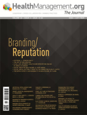 HealthManagement.org - Journal Volume 18 - Issue 2, 2018 Branding/Reputation