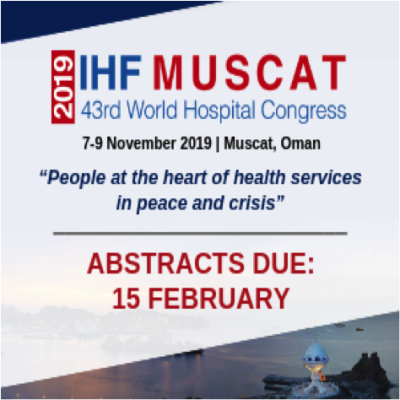 2019 World Hospital Congress: Call for abstracts closes on 15 February