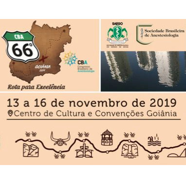 66º Congresso Brasileiro de Anestesiologia (CBA) 2019