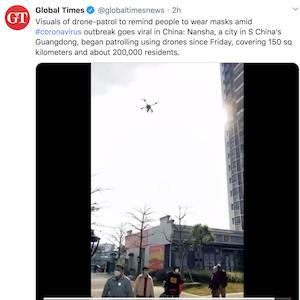 Coronavirus Drones in China