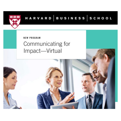 Communicating for Impact - Virtual By Harvard Business School