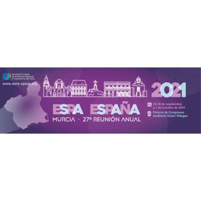 27th ESRA-SPAIN Annual Meeting 2021