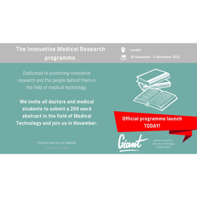 GIANT Health Announces Launch of New International Innovative Medical Research Programme
