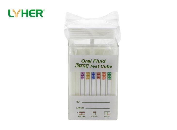 Multi-Drug 2-15 Saliva Test Cube
